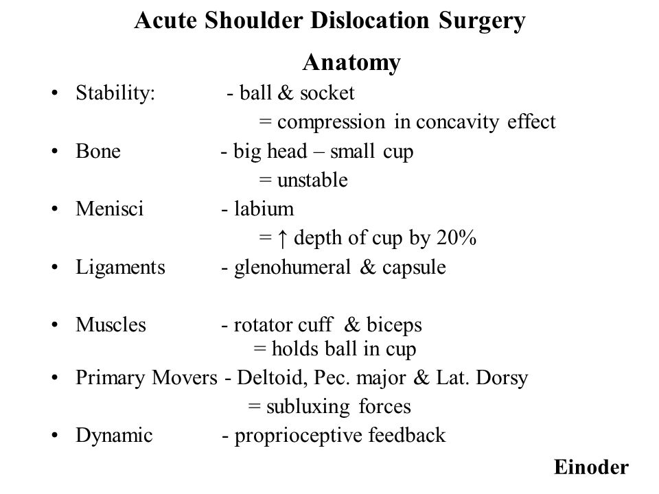 Acute anterior dislocation of the shoulder - ppt video online download