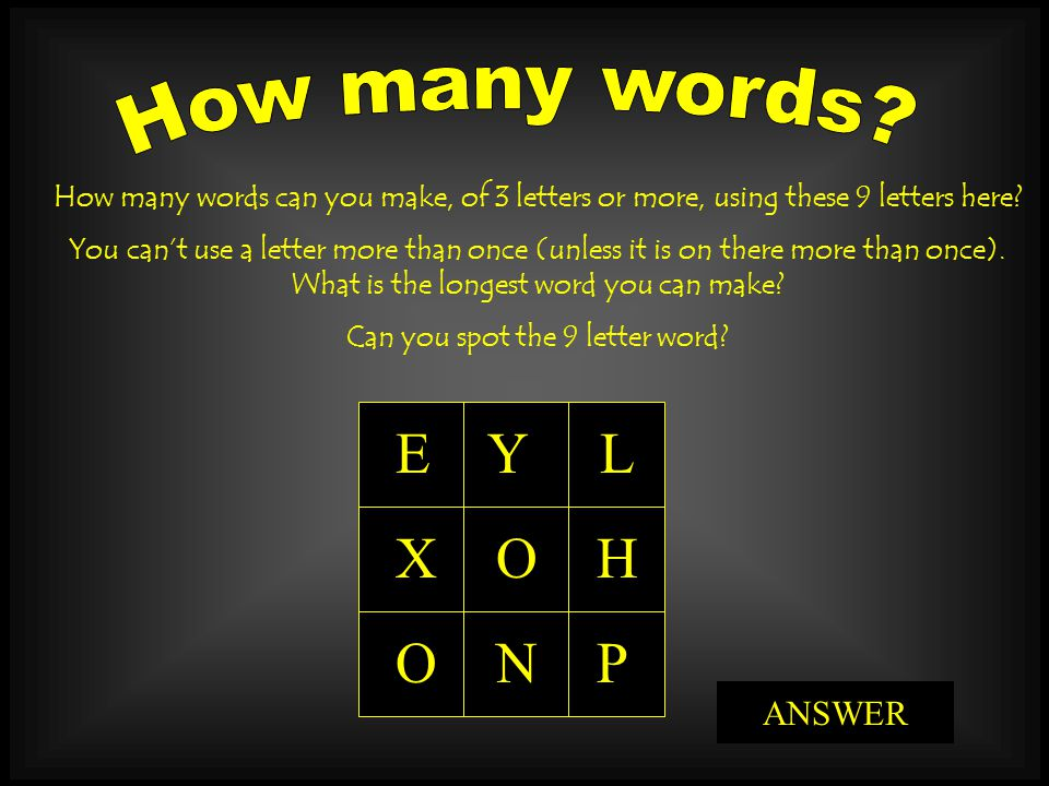 9 letter words can you spot the 9 letter word ppt 20310 | Can you spot the 9 letter word