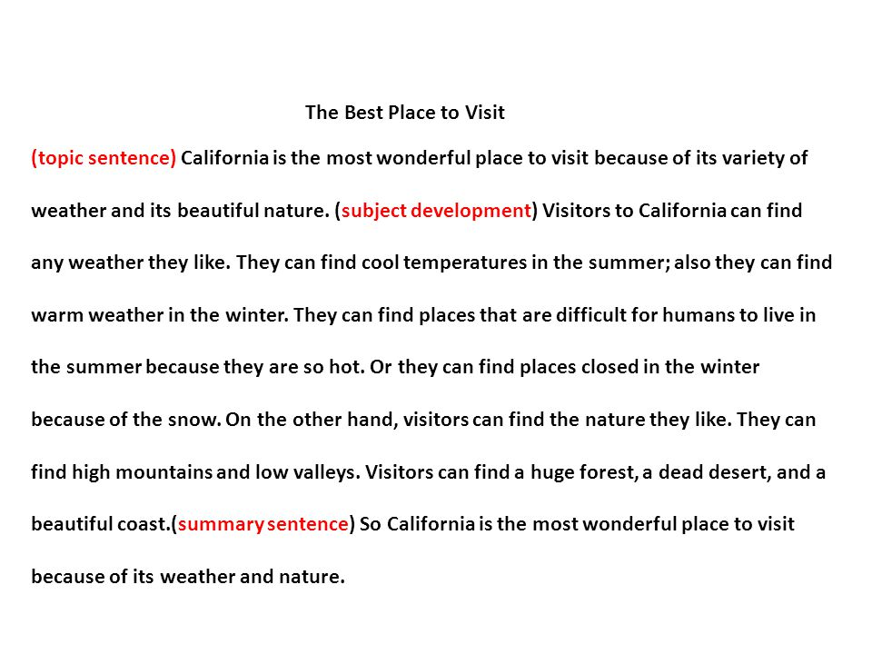 Beautiful place essay