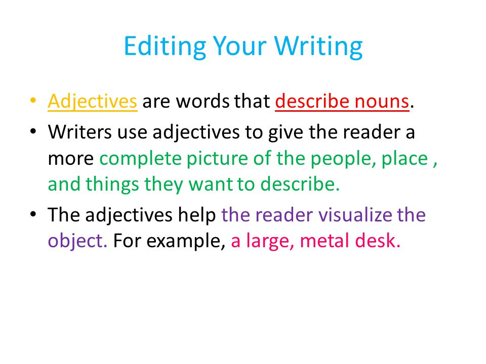 editing your writing In this movie, we learn about how to edit our writing we look at grammar, spelling, capitalization, and punctuation teachers for accompanying writing resources, check out my tpt store here.
