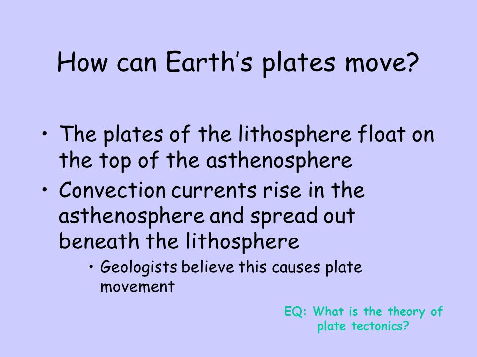 How can Earth's plates move