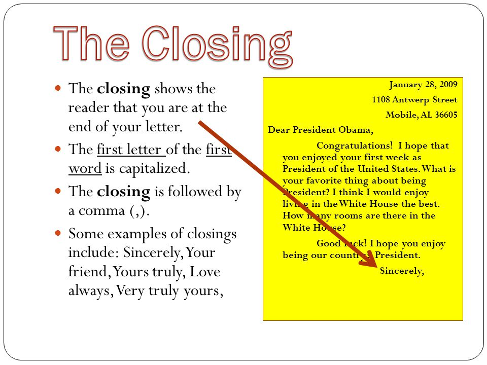 Letter Closings For Friends from slideplayer.com