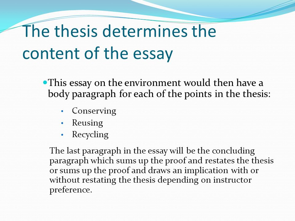 Introduction Paragraph  Ppt Video Online Download The Thesis Determines The Content Of The Essay