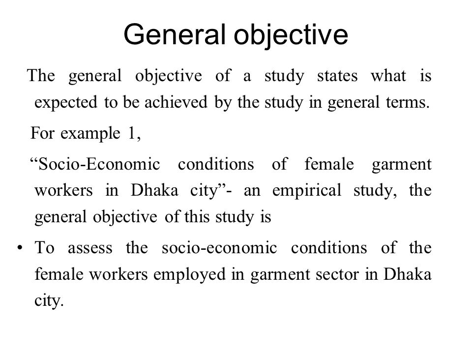 Thesis objective of the study. Objective of the study thesis.