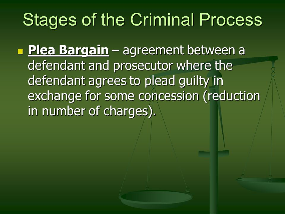 Stages of the Criminal Process