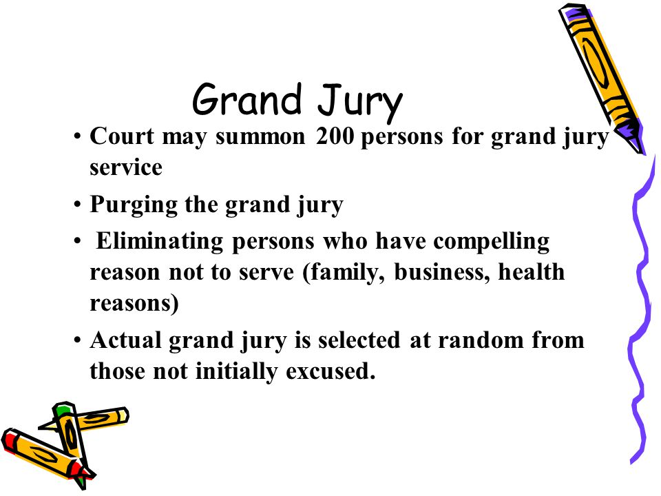 Grand Jury Court may summon 200 persons for grand jury service