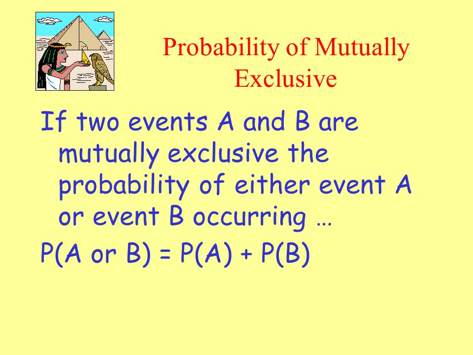 Probability of Mutually Exclusive
