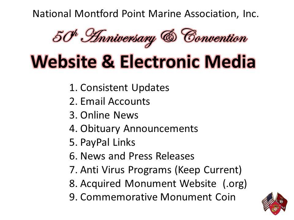 50th Anniversary & Convention Website & Electronic Media