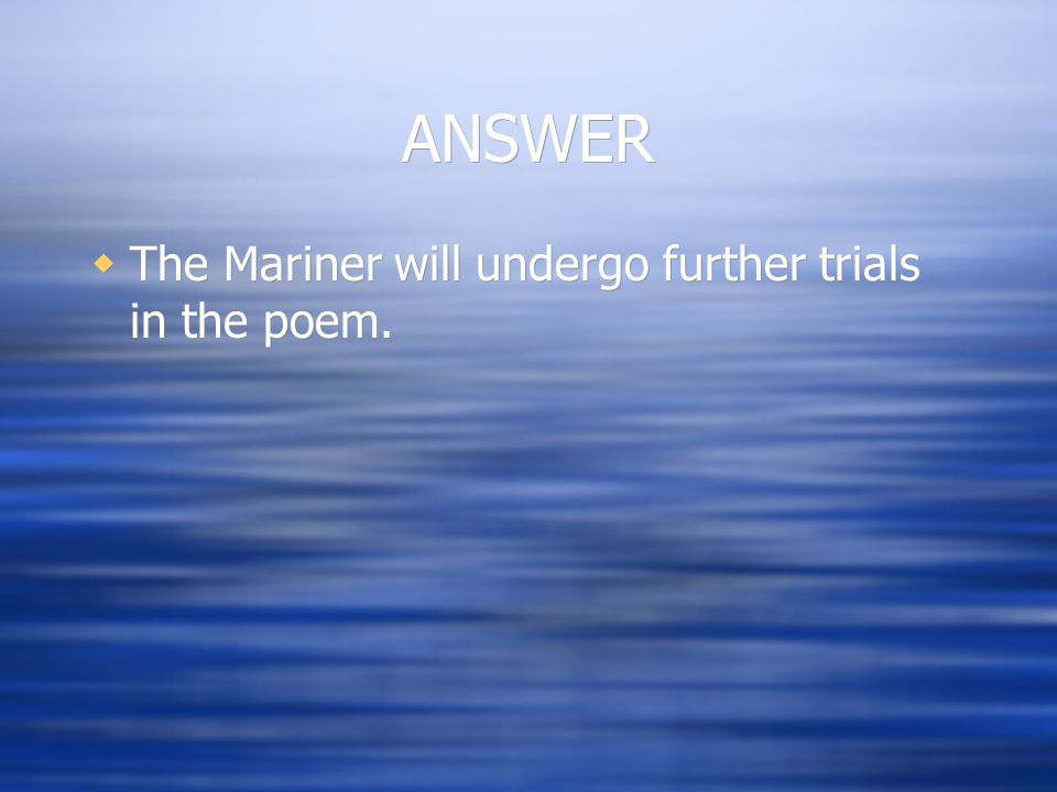 the mariner poem