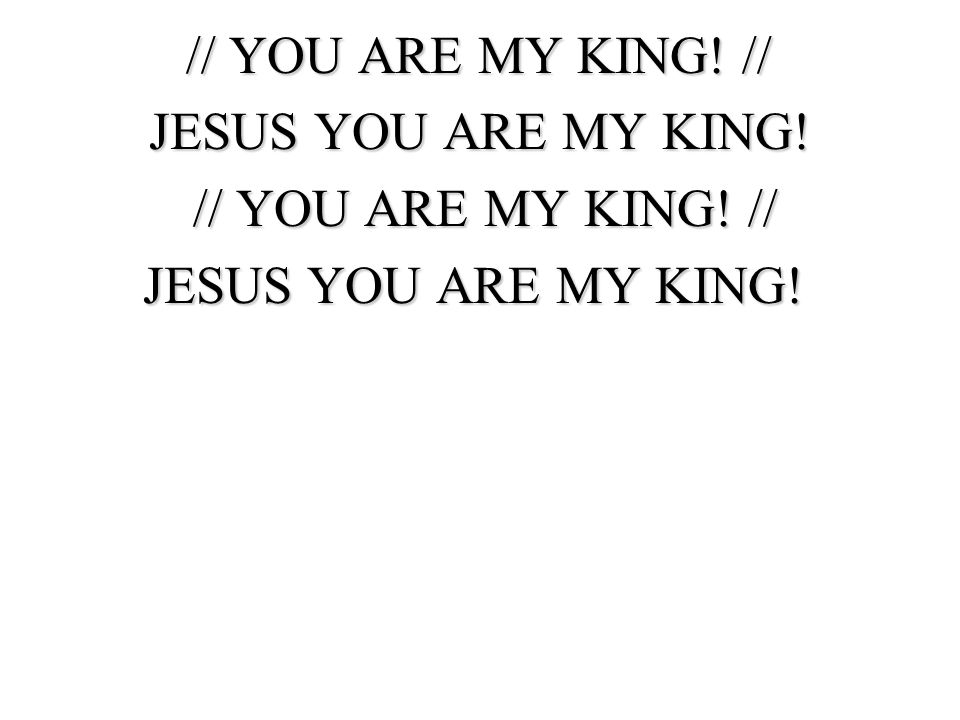 // YOU ARE MY KING! // JESUS YOU ARE MY KING!