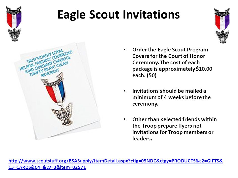 Eagle Court Of Honor Presenters Council Advancement Chair