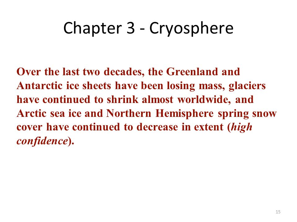 Chapter 3 - Cryosphere