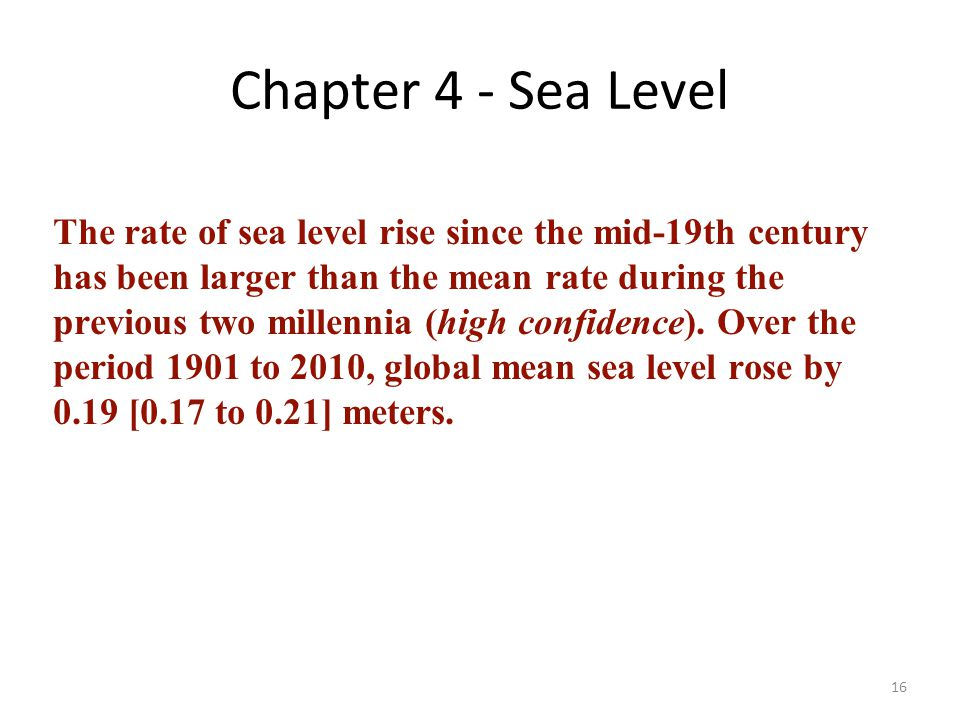 Chapter 4 - Sea Level