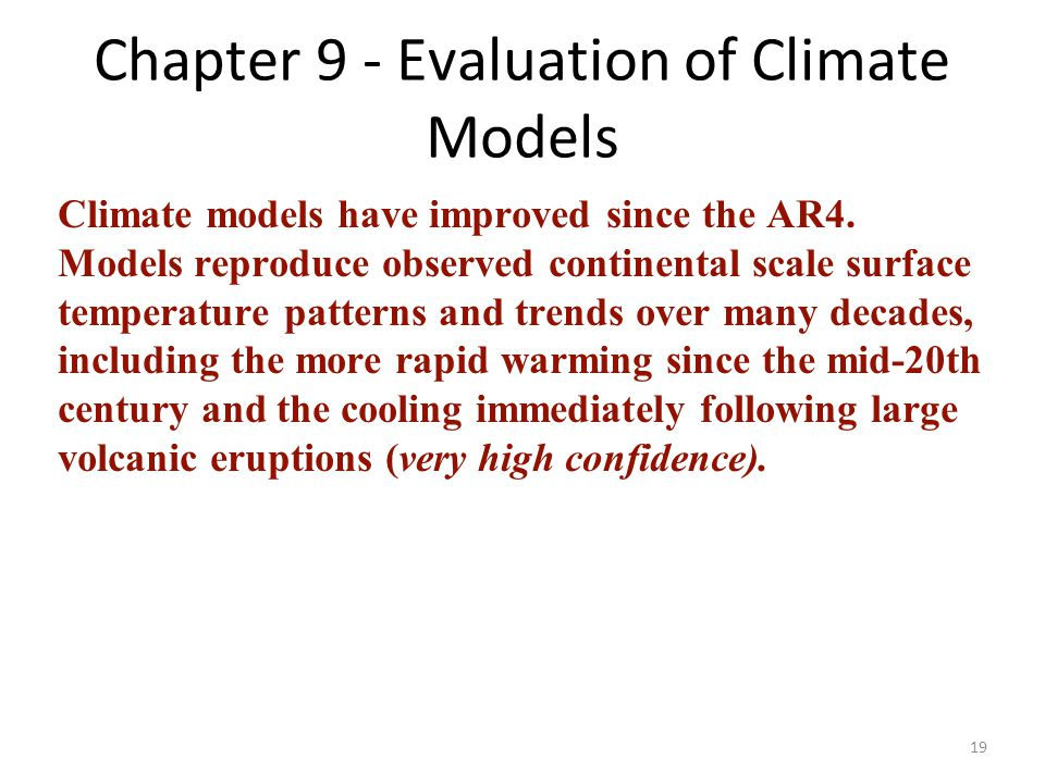Chapter 9 - Evaluation of Climate Models