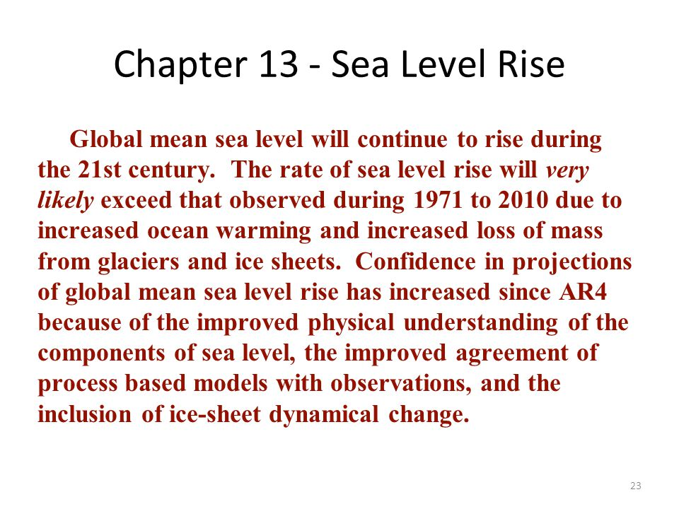 Chapter 13 - Sea Level Rise