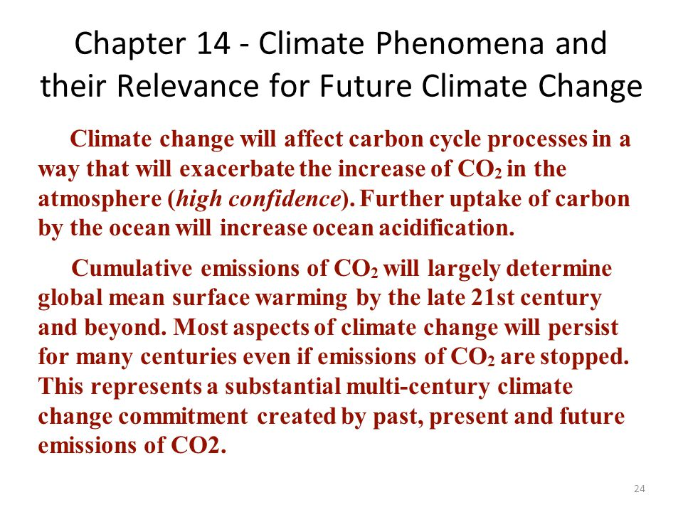 Chapter 14 - Climate Phenomena and their Relevance for Future Climate Change