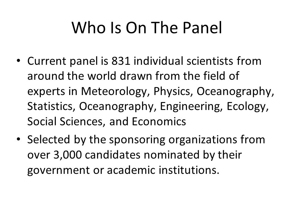 Who Is On The Panel