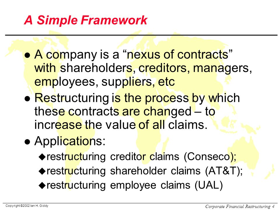 Review of Corporate Financial Restructuring - ppt video