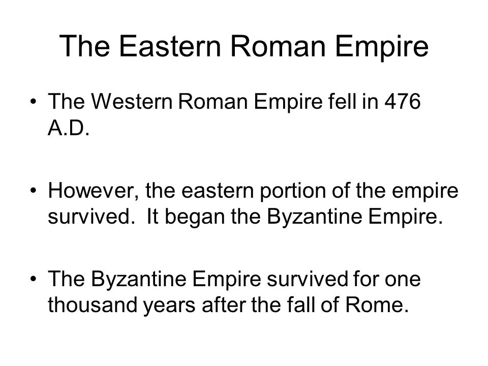 The Eastern Roman Empire
