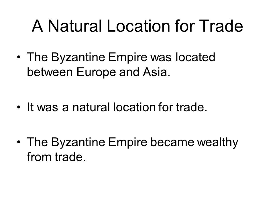 A Natural Location for Trade