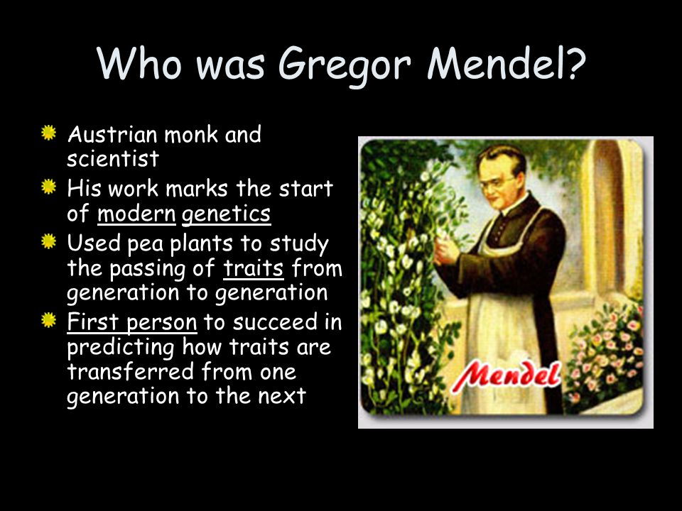 Who was Gregor Mendel Austrian monk and scientist