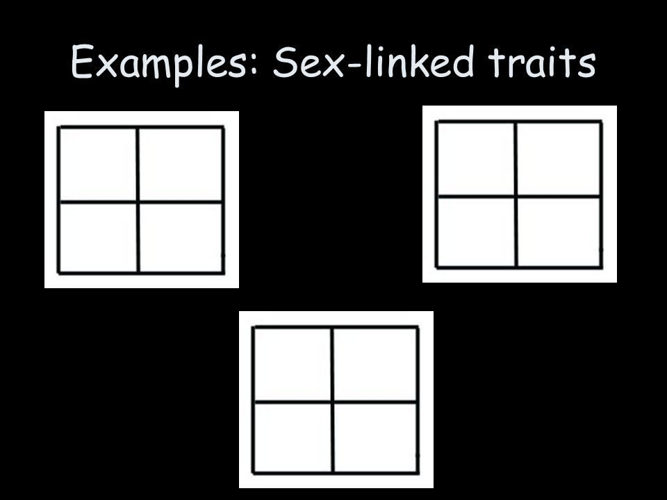 Examples: Sex-linked traits