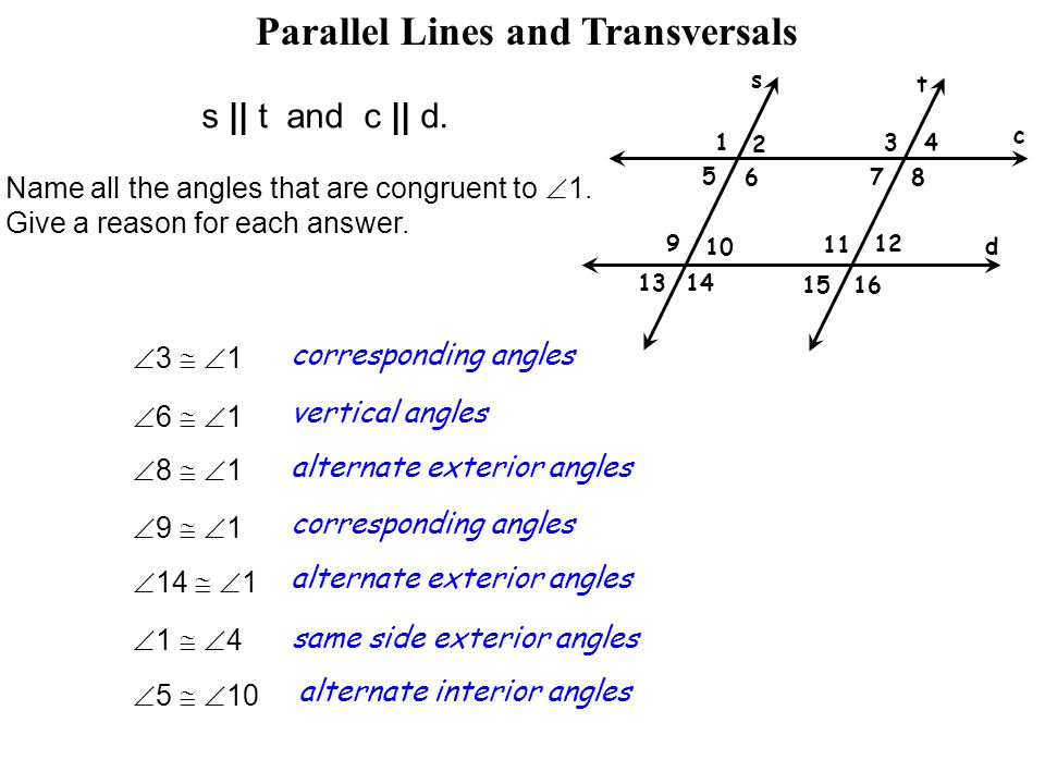 Lesson 26 Parallel Lines Cut By A Transversal Ppt Video Online
