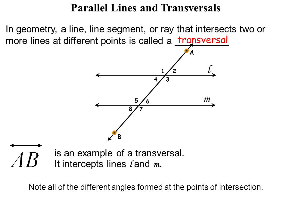 Lesson 26 Parallel Lines Cut By A Transversal Ppt Video Online. Parallel Lines And Transversals. Worksheet. Parallel Lines And Transversals Worksheet At Mspartners.co