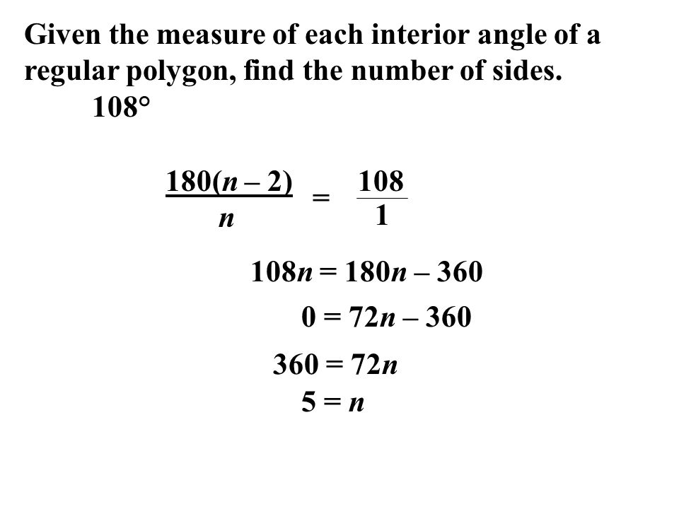 Given+the+measure+of+each+interior+angle+of+a+regular+polygon%2C+find+the+number+of+sides