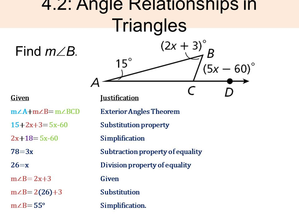 42 Angle Relationships In Triangles Ppt Download