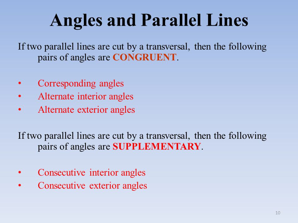 how to find parallel lines