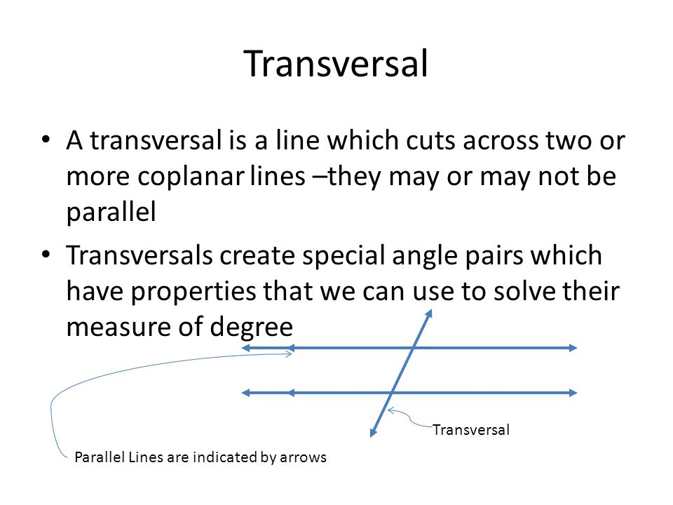 Unit 3 Angles and Transversals - ppt video online download