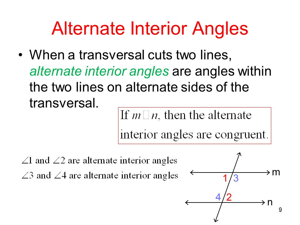 Exterior Meaning: Alternate Interior Angles Definition