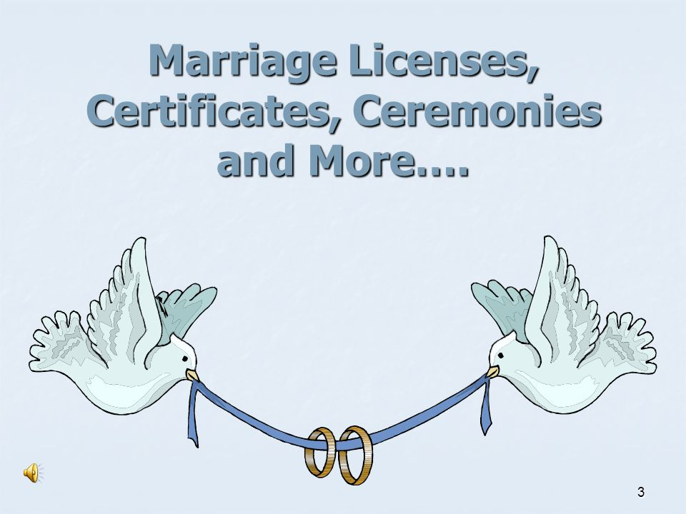 Marriage Licenses, Certificates, Ceremonies and More….