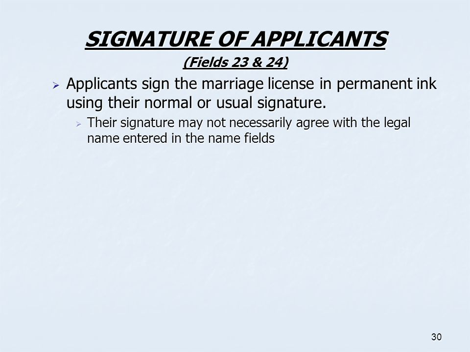 SIGNATURE OF APPLICANTS
