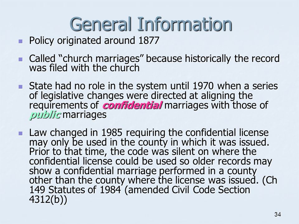 General Information Policy originated around 1877