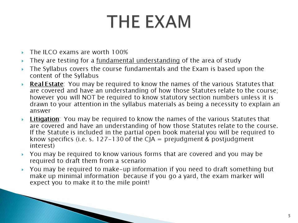 preparation for the ilco provincial examinations ppt download