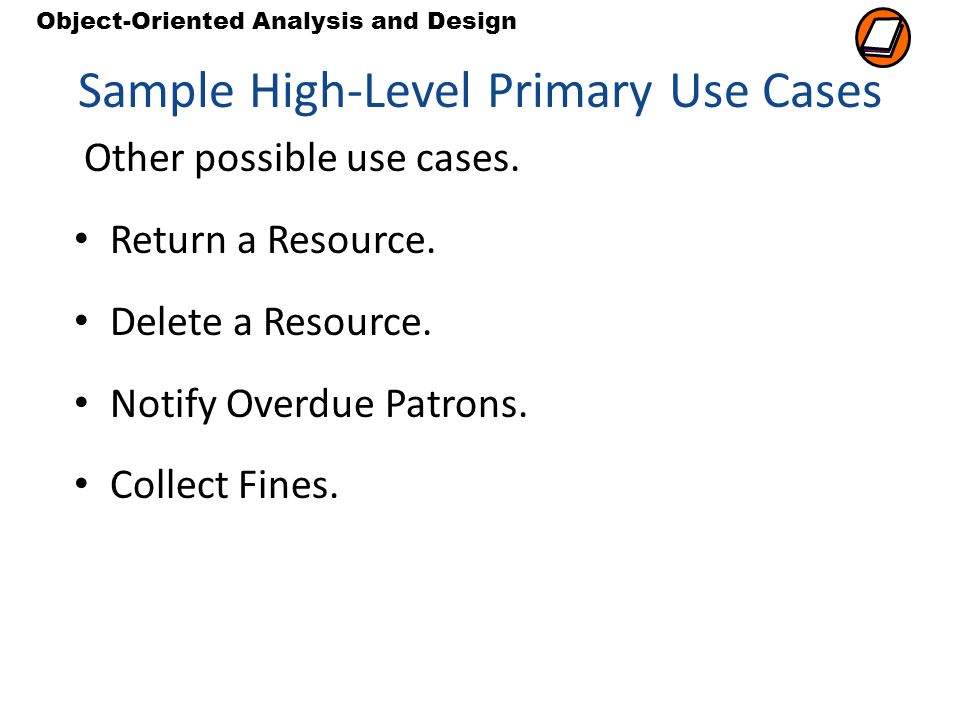 Sample High-Level Primary Use Cases