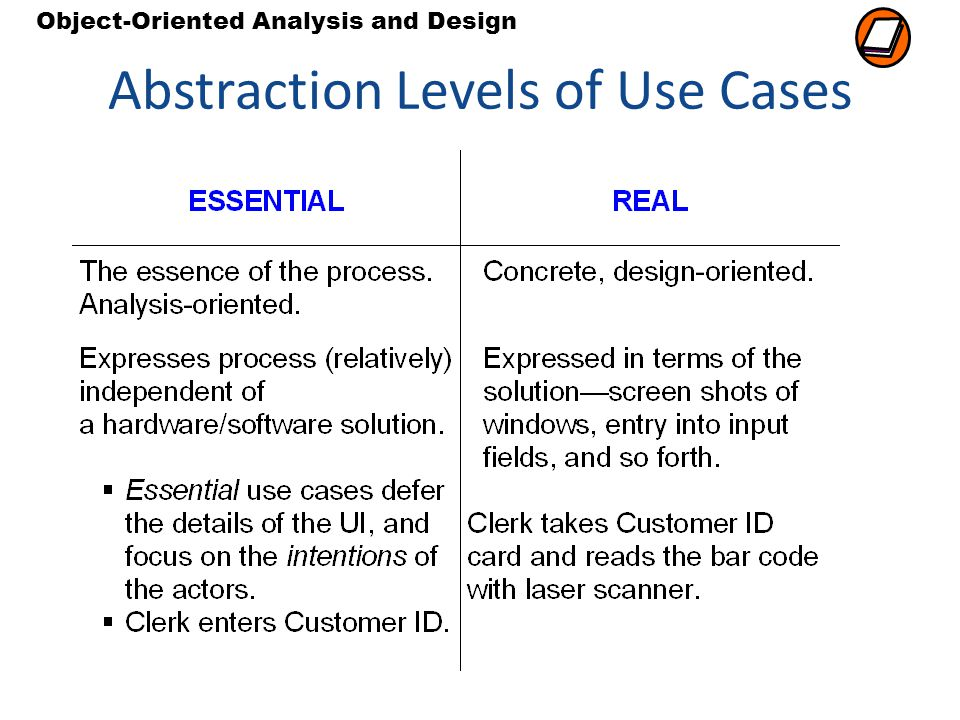 Abstraction Levels of Use Cases