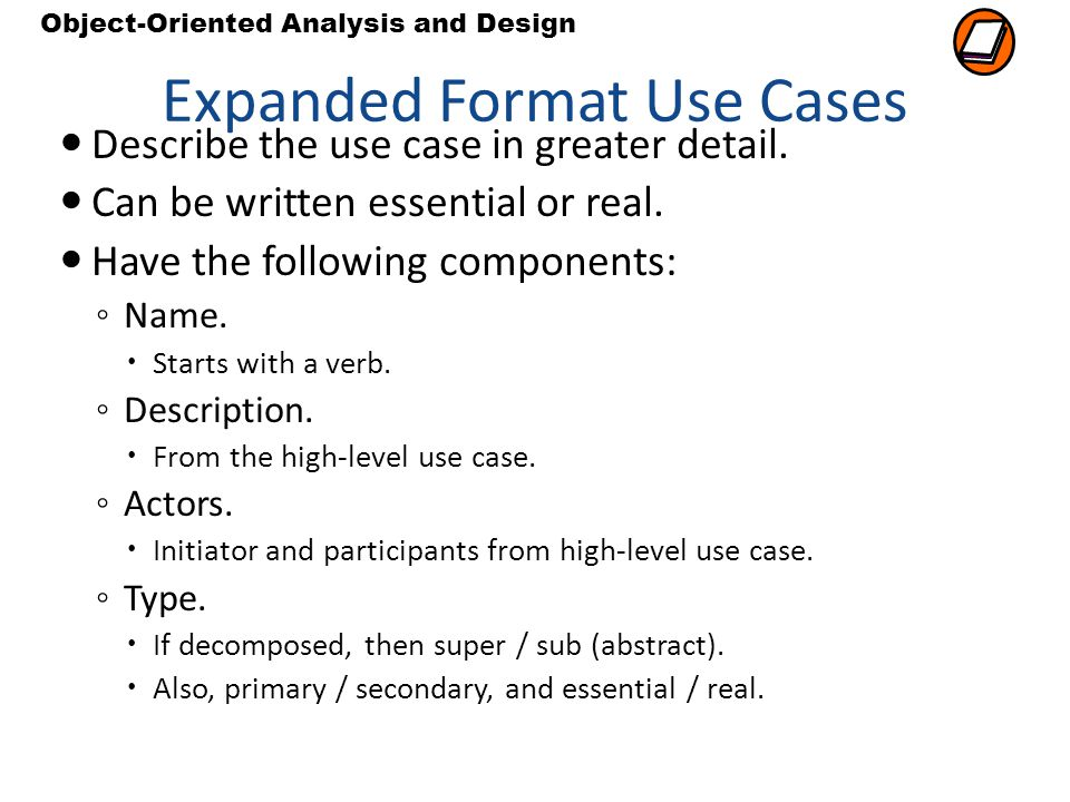 Expanded Format Use Cases