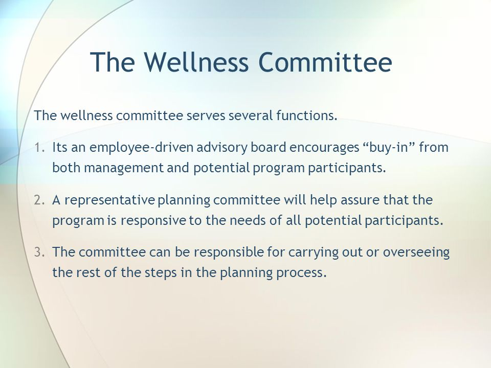 The Wellness Committee