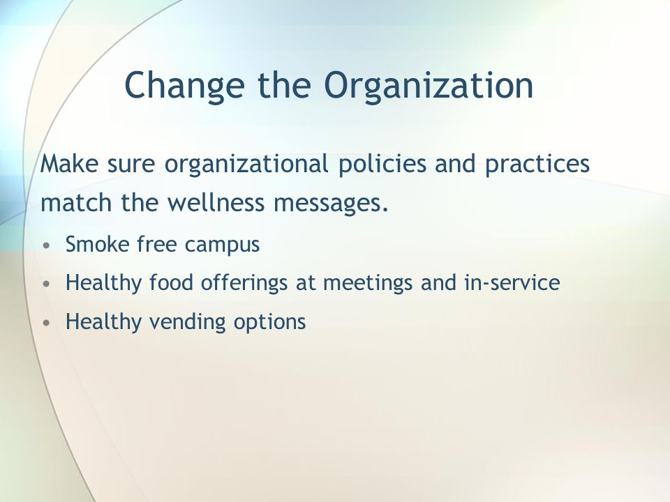 Change the Organization