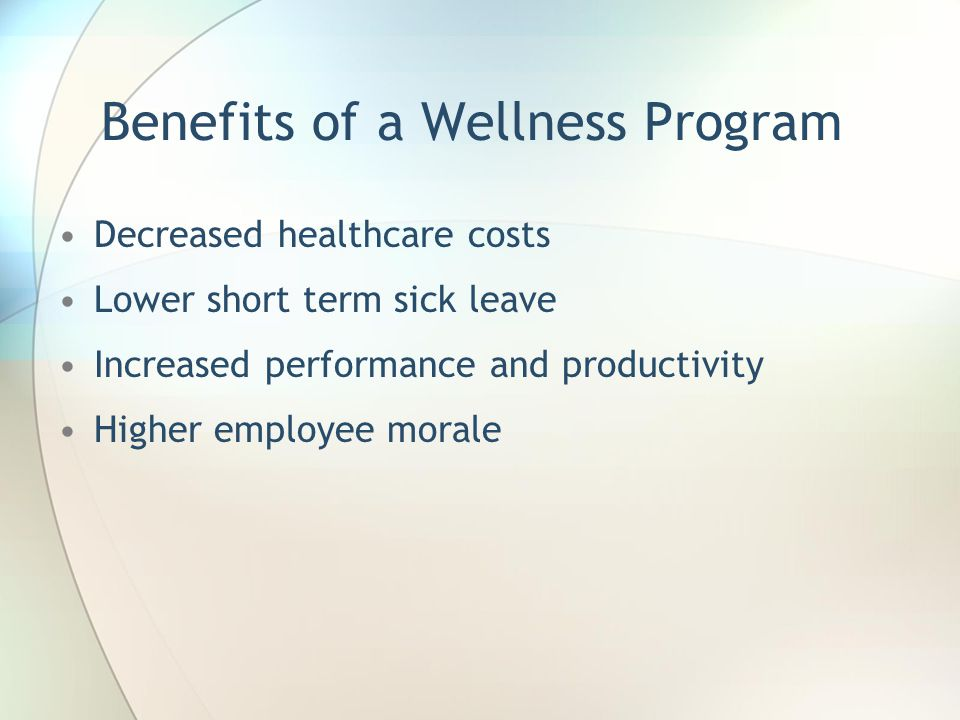 Benefits of a Wellness Program