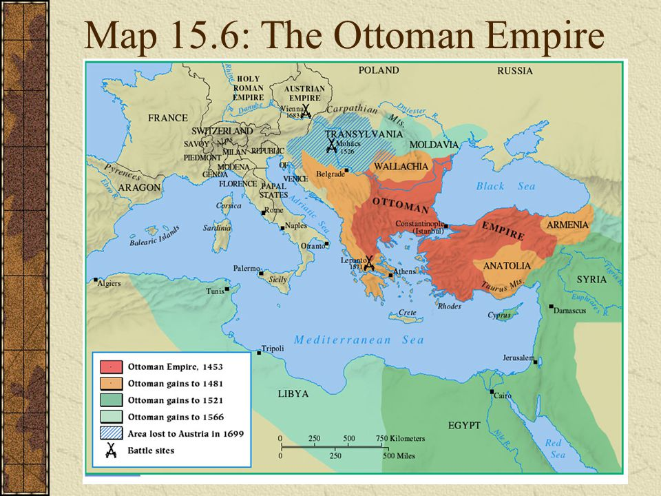 Map 15.6: The Ottoman Empire