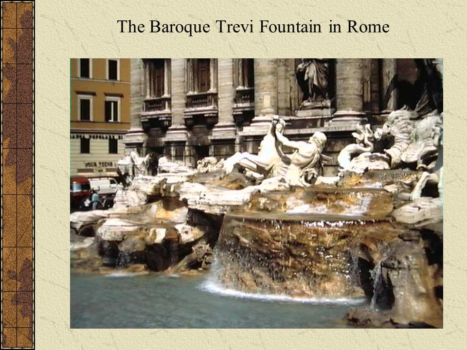 The Baroque Trevi Fountain in Rome