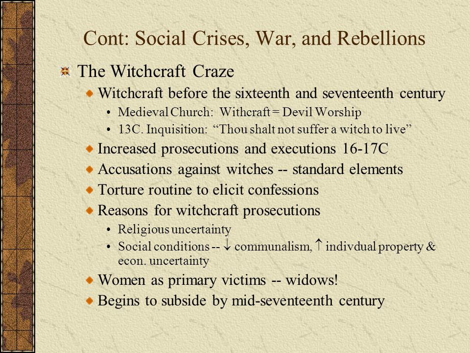 Cont: Social Crises, War, and Rebellions