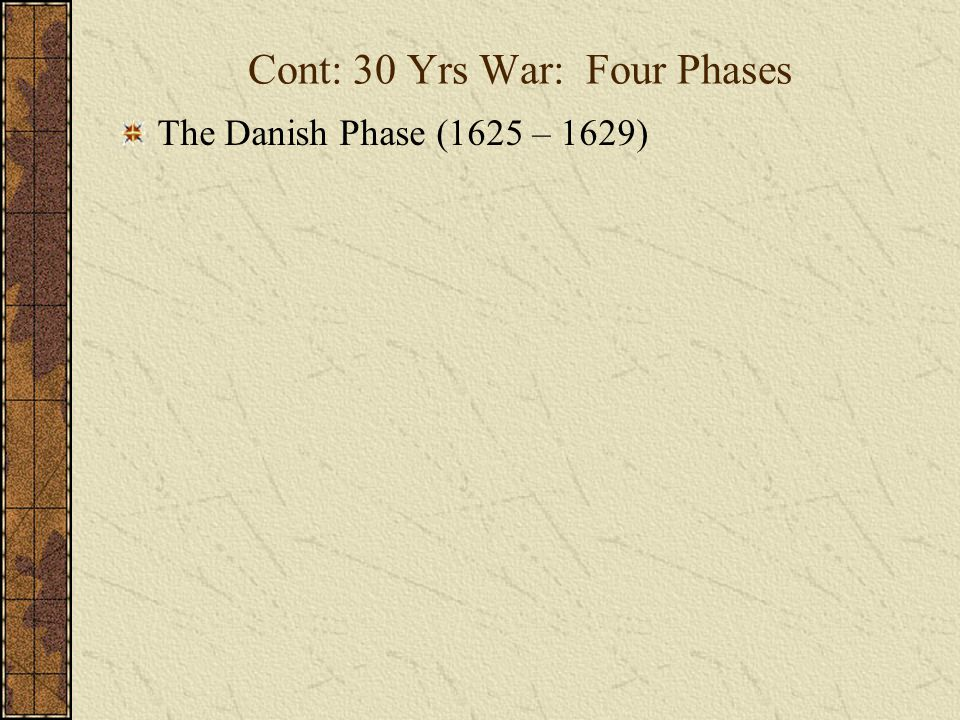 Cont: 30 Yrs War: Four Phases