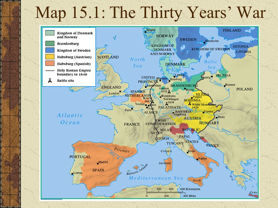 Map 15.1: The Thirty Years' War