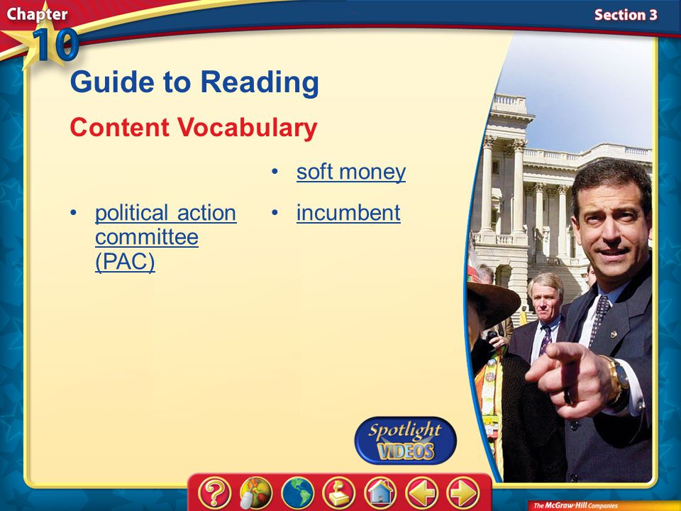 Guide to Reading Content Vocabulary political action committee (PAC)