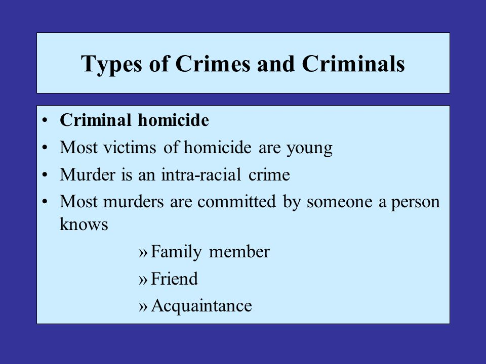 crime is predominantly an intra racial 1985-1-1 a detailed analysis of victimization survey data indicates that violent crime in the united states (robbery, assault, and rape) is intraracial from three perspectives (whites chose other whites as victims, whites were largely victimized by other whites, and.